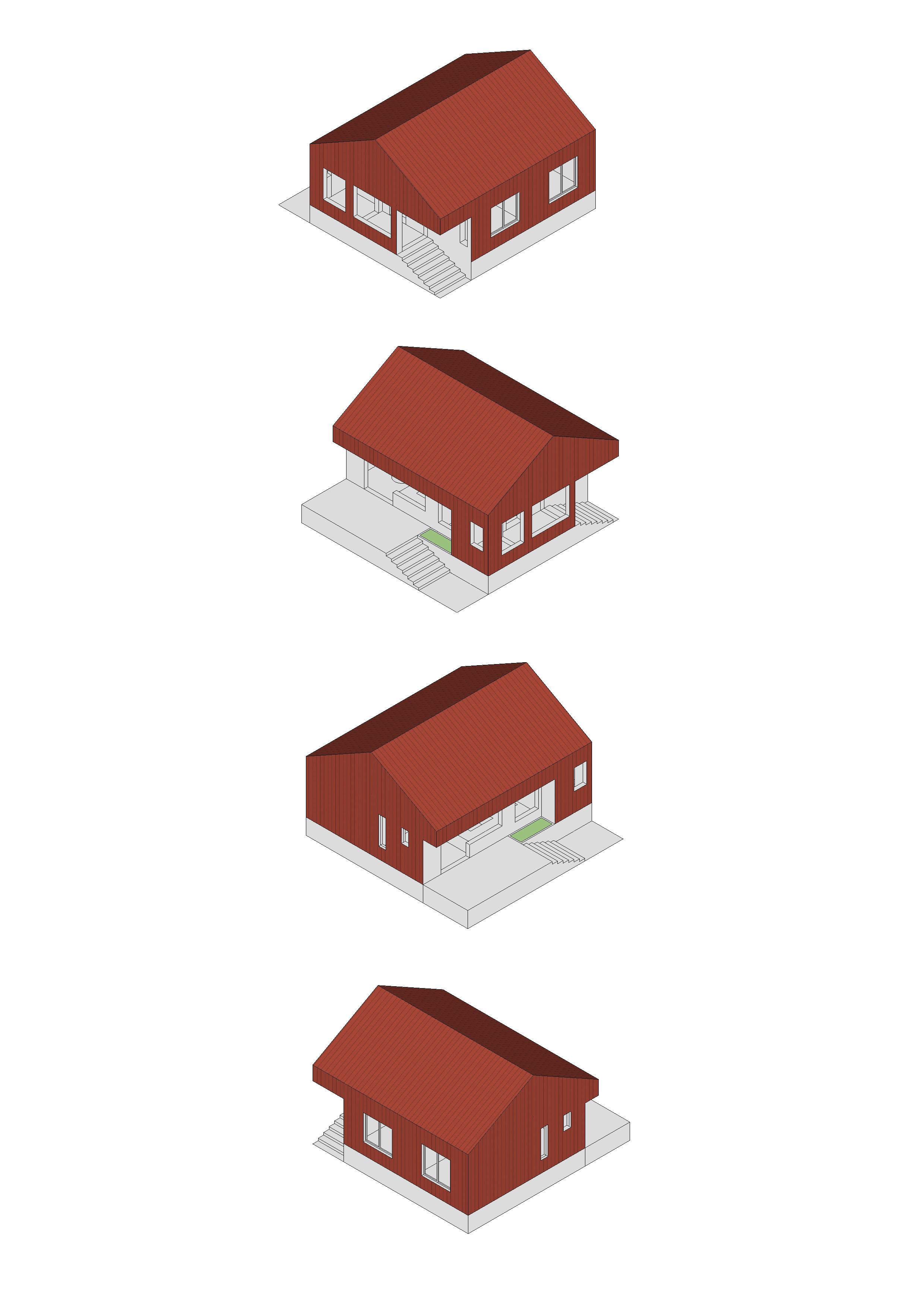 house diagram axonometria