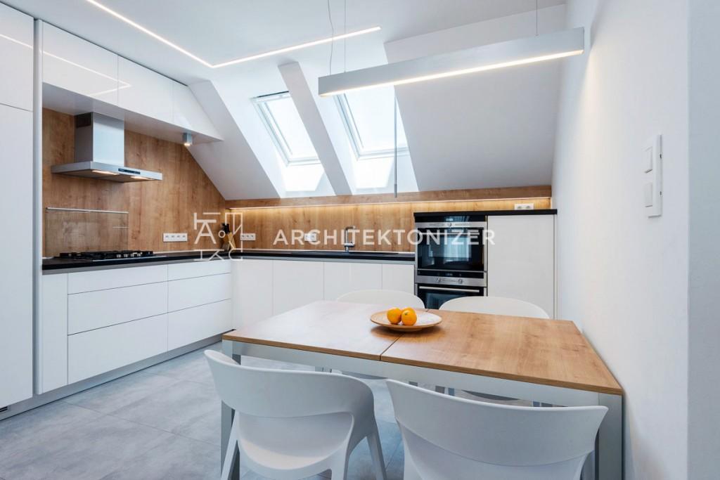 kitchen oak and white