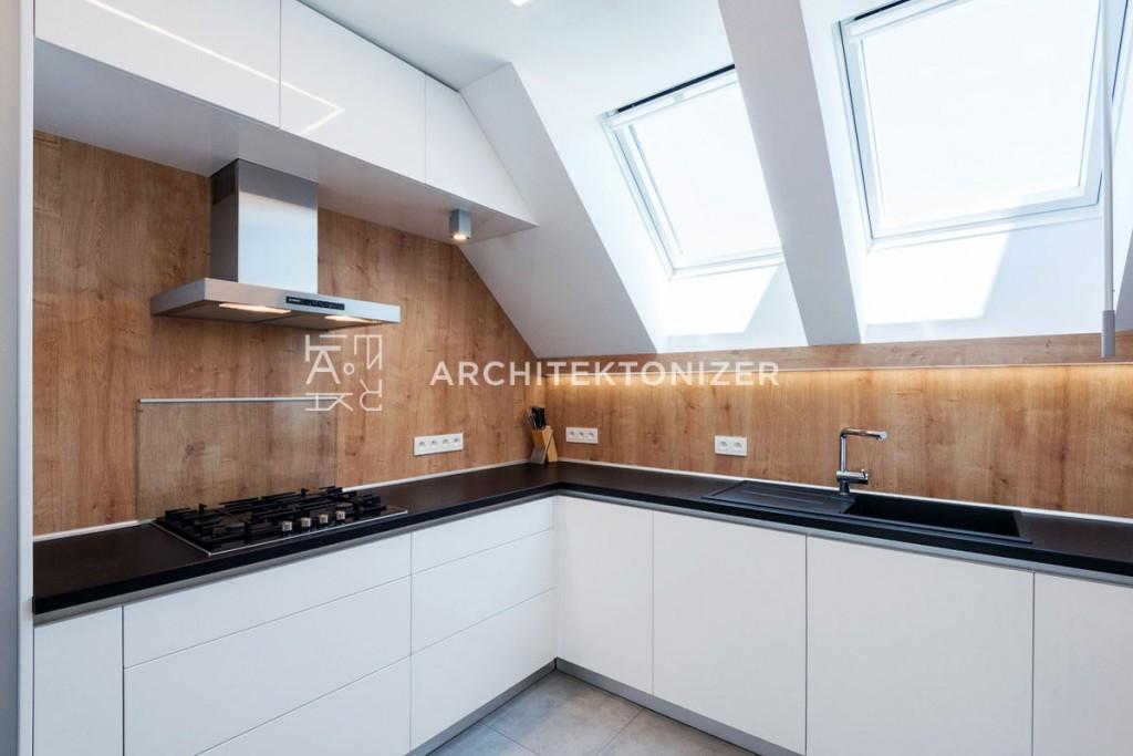 kitchen white and oak